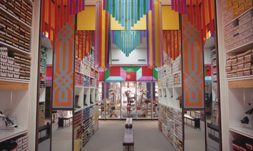 In 1970, Sussman created store interiors for Standard Shoe.