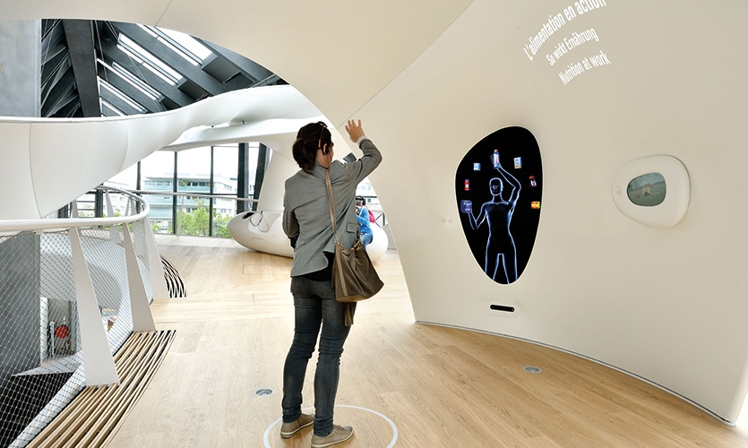 Visions is a kinect body scanner that helps to explain the impact of certain foods on the human body.