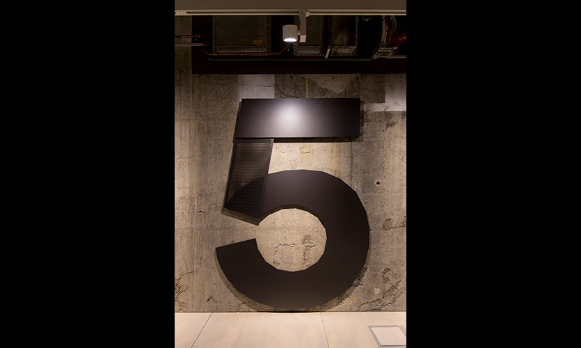 Urbanite produced a range of signage, which amounted to approximately 100 signs across the seven floors
