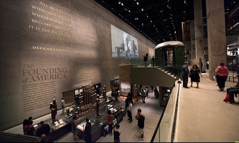 The 85,000 square feet of inaugural exhibitions for the National Museum of African American History and Culture tells a 400-year story of African American history and culture as central to America's history.