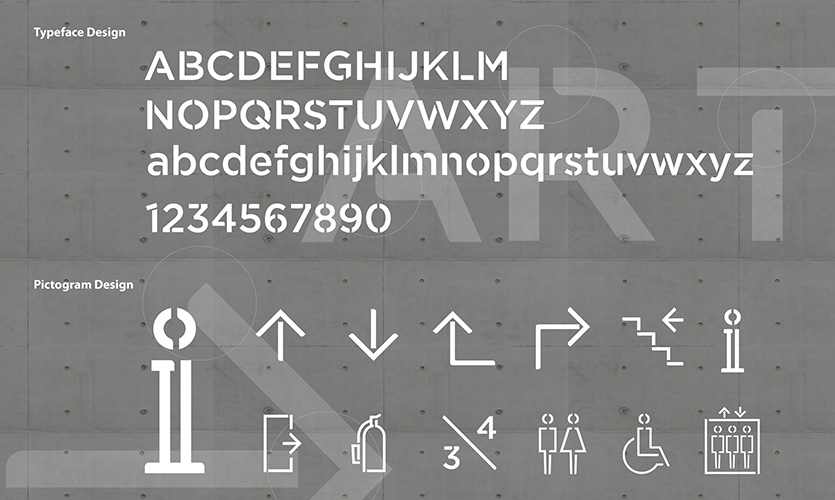 Typography & Pictogram design development