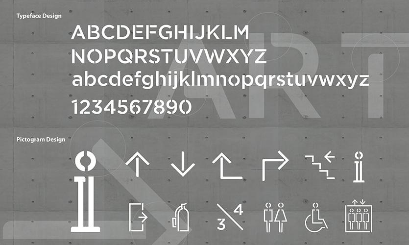 Typography & Pictogram design development