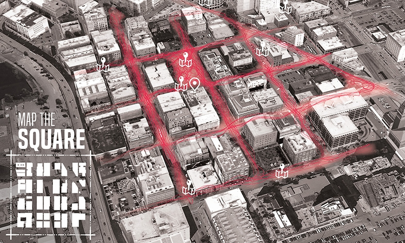 Map the Square is an art installation and digital interactive urban mapping project that elevates public conversation around design and built environment in Pioneer Square.