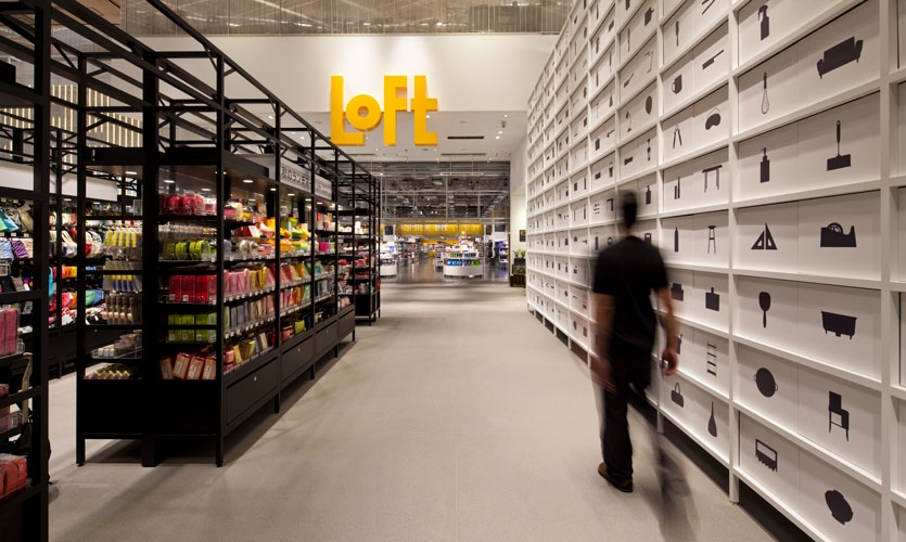 From Archigraphia Redux: Loft Retail Stores; Shibuya, Japan; Design Firm: Hiromura Design Office; Client: The Loft Co., Ltd.