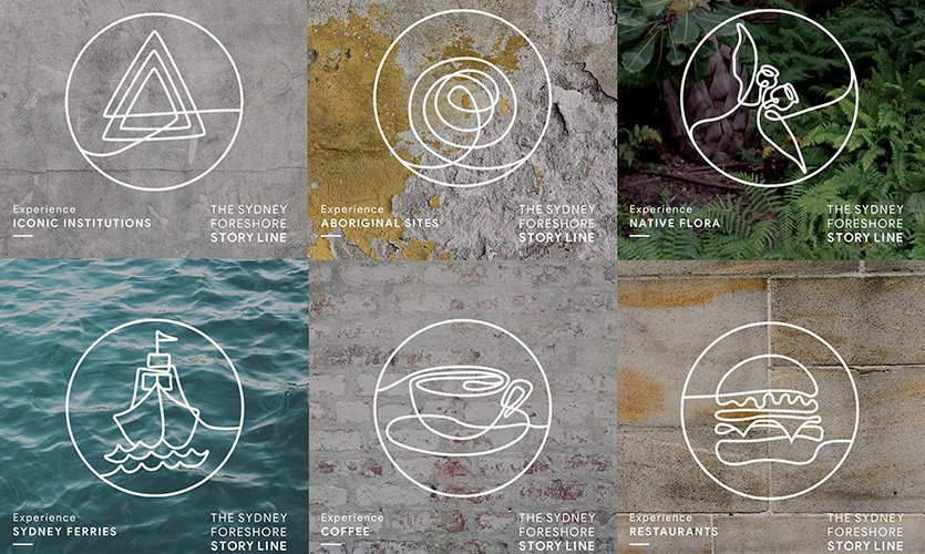Foreshore Story Line icons