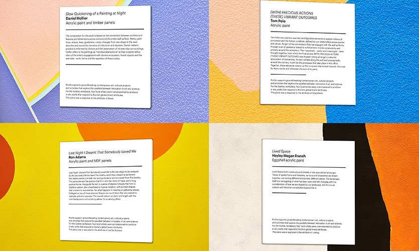 The featured artists' statements are displayed as well.