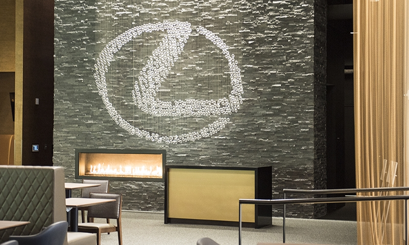 Of the sponsorship branding activations, the standout is inside the Lexus club.