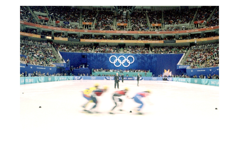 The 20,000-seat Vivint Smart Home Arena (formerly the Delta Center), home of the NBA's Utah Jazz, transformed into the Olympic venue for figure skating and short track.