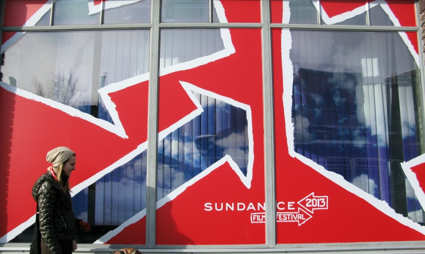 Playful, prominent arrow graphics dressed Park City and pointed the way for thousands of cinephiles attending the 2013 Sundance Film Festival, featuring 119 films, 103 of which were world premieres.
