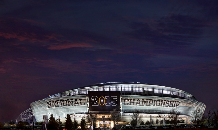 In addition to envisioning the environment for the fans and students in attendance at the inaugural College Football National Championship, Infinite Scale planned on-site with ESPN to ensure the television audience felt the impact of the event.