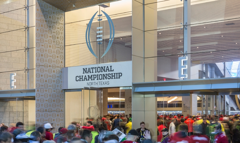 At hotels and the airport, streetscapes and skylines, the impactful design placed college football's premier event front and center for attendees, city residents and millions tuning into the game.