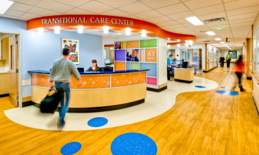 Cincinnati Children's Transitional Care Center after the 2011 renovation. (Copyright JH Photo)