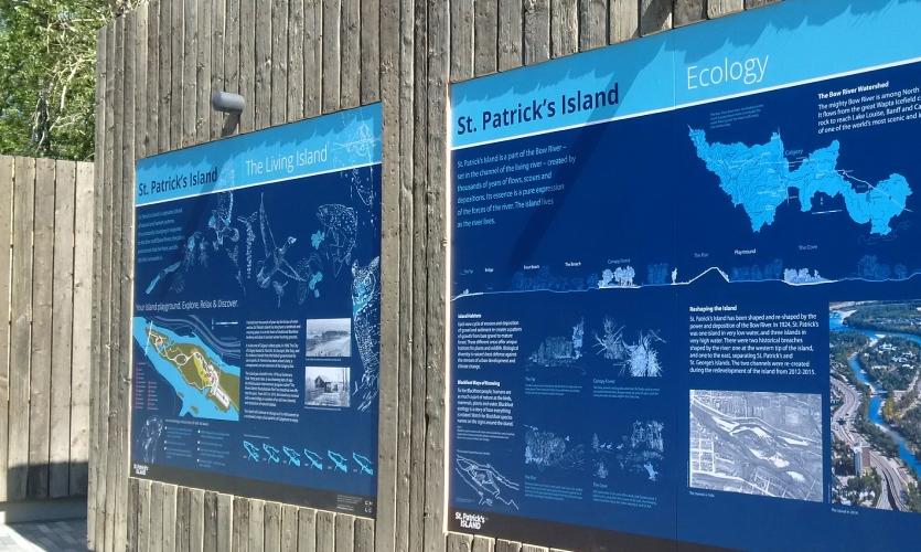 St. Patrick's Island signage, designed by Lime Design.