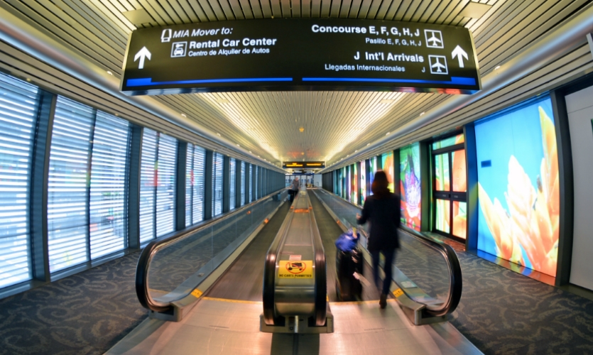 MIA implemented new interior wayfinding for its North, South and Central Terminals.