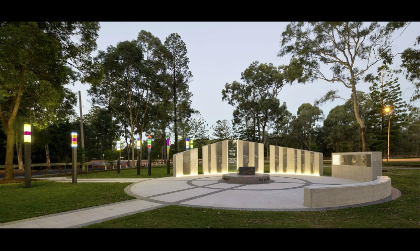 The ANZAC Memorial at Buchanan Park in Burgengary, Queensland, Australia, opened in time for the ANZAC Day Centennial in 2015.