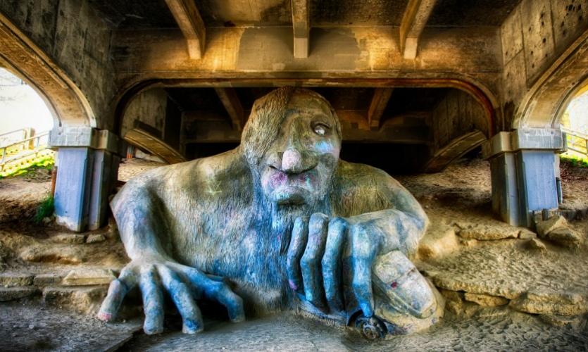 The Fremont Troll is a unique public art installation. (Photo: Michael Matti)
