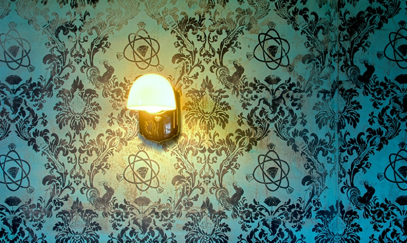 Electric Coffin is known for its signature custom wallpaper (here at Joule).