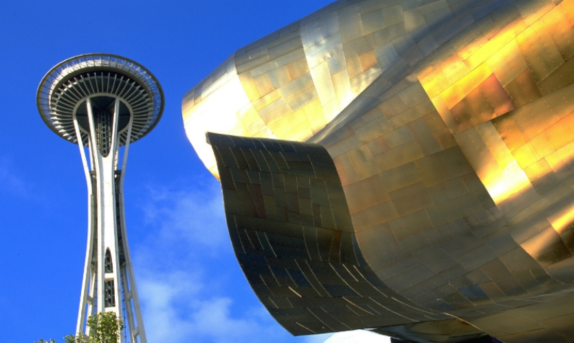 The Space Needle and Seattle Center, the Experience Music Project Museum are icons of innovation. (Photo: Tim Thompson)