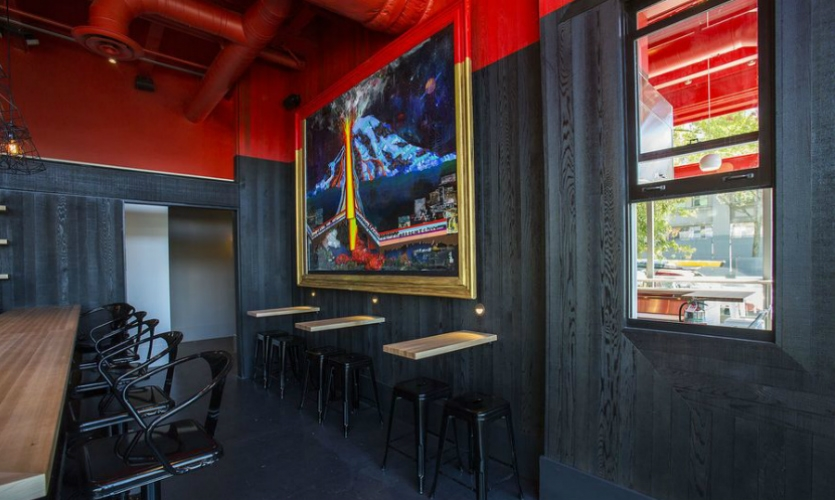 Electric Coffin's mission is to bring a fine-art sensibility to commercial spaces (shown: Trove restaurant).