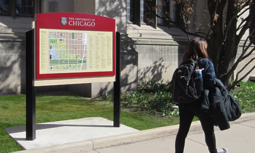 New wayfinding maps were designed with first-time visitors in mind.