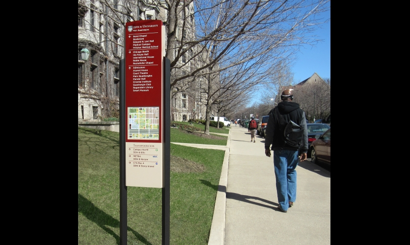 The program brings logic, information and a consistent brand to the picturesque quadrangles and sidewalks.