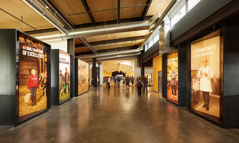 From farm to factory to you – the Tillamook Creamery Visitor's Center brings the brand's customer commitment to life with rich storytelling and interactive exhibits.