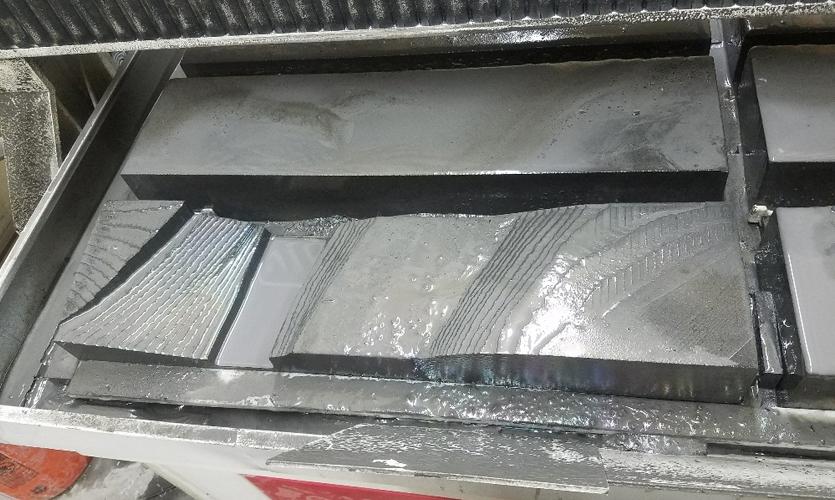 Module in CNC machine bed