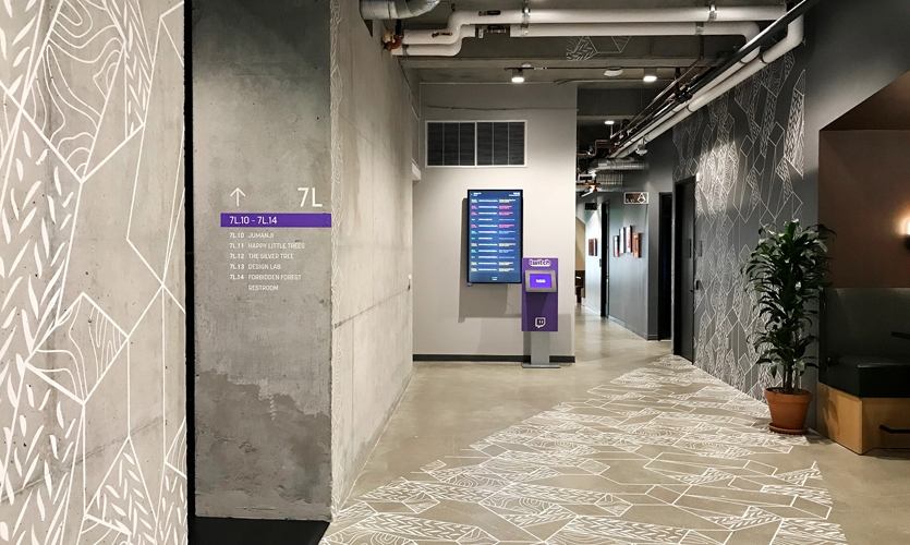 Designing a signage and wayfinding system that respects and complements the beautiful and abundant amount of artwork that adorns the walls (floors and sometimes ceilings) was key to success.