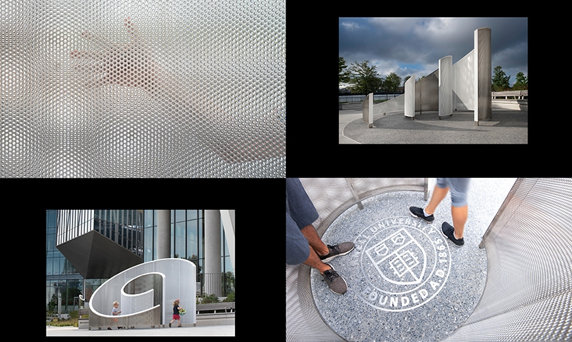 Cornell Tech (image: composition of various views and details of the monument structure)