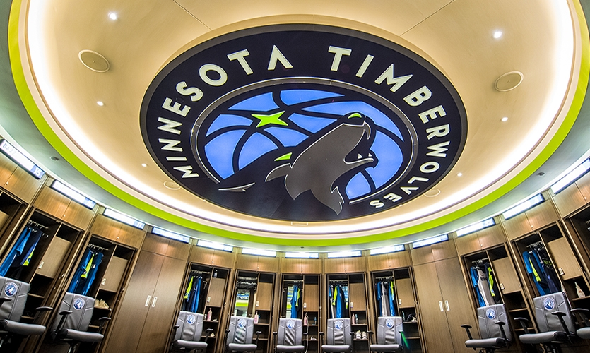 The Timberwolves rebranded during the project.