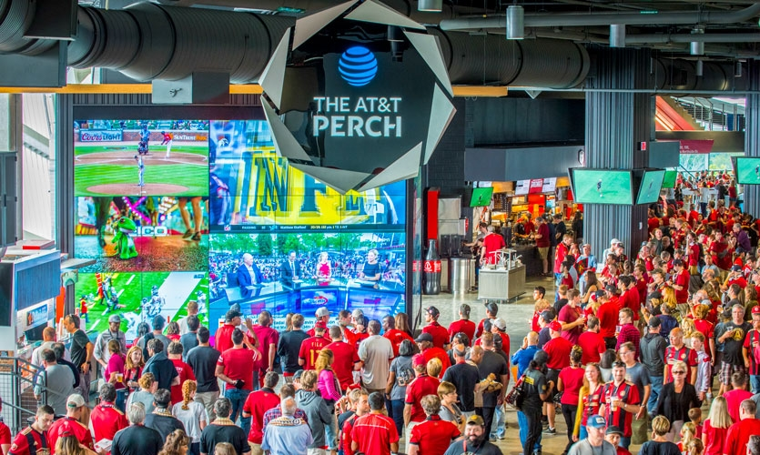 From early conceptual designs to the management of distinct sponsorship zones, Dimensional Innovations worked with 19 big brands—including AT&T—to bring their brand promise to light.
