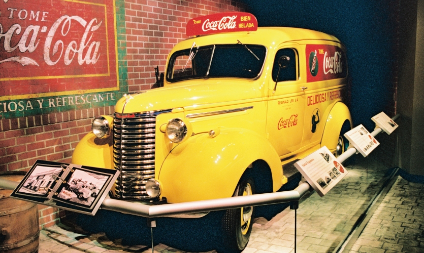 This 1939 delivery truck from Buenos Aries, Argentina is on view at the World of Coca-Cola.