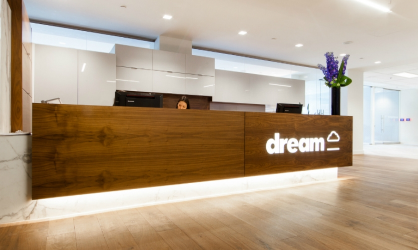 Environmental branding at Dream headquarters, Toronto