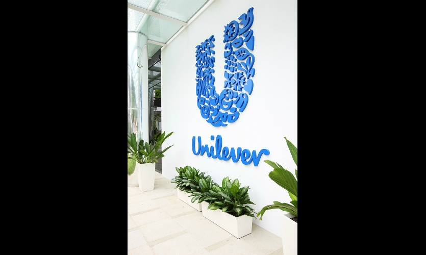 Environmental graphics at the Unilever campus in Singapore