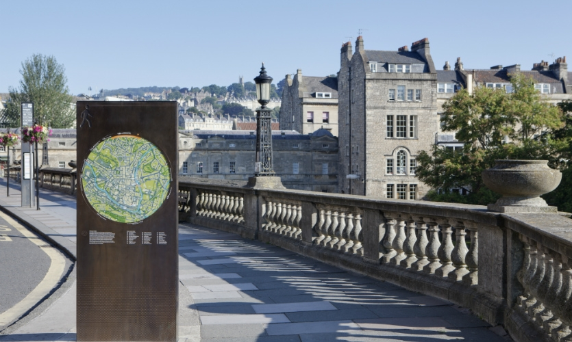 The new city information system in Bath, England, was designed to help tourists experience the most of the historic city.