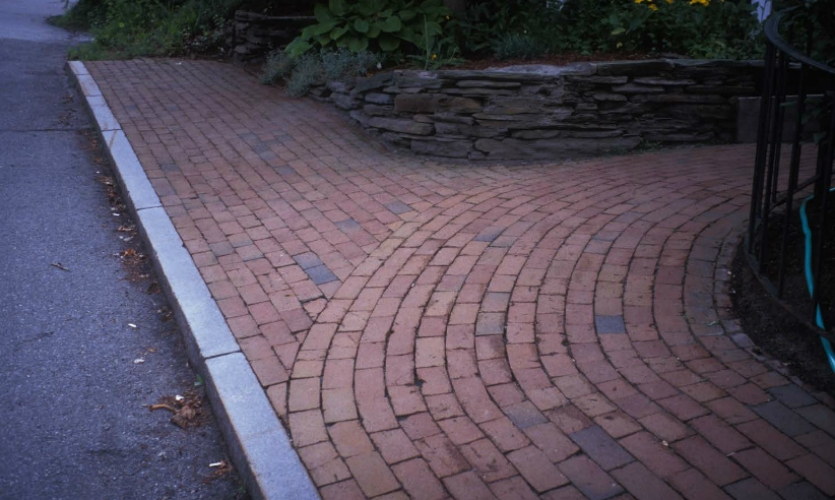 Fig. 13.  These sidewalk pavers demonstrate how design decisions can help users translate the visual implications of the physical space.