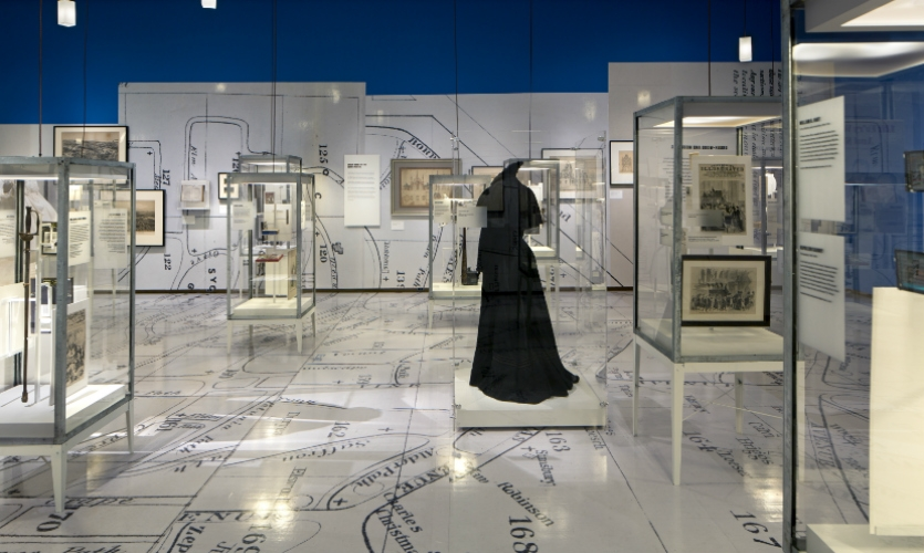 """Abbott Miller's """"A Beautiful Way to Go"""" exhibit commemorated the 175th anniversary of the historic Green-Wood Cemetery in Brooklyn."""