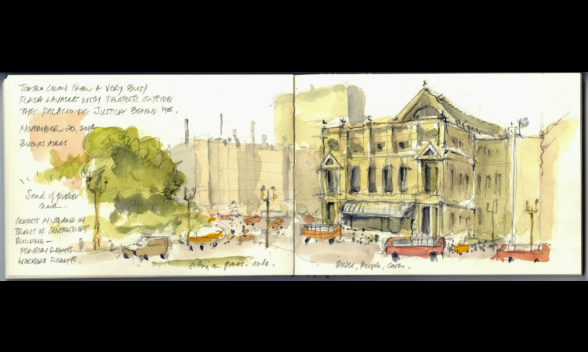 McNeil's beautiful watercolor sketches chronicle his travels and inform his design work.