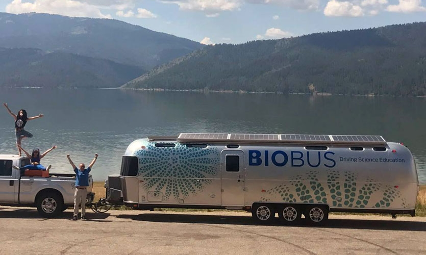 Participants will learn about creating a new model for museums and mobile experiences on the Tessellate at New Inc. tour. (Image courtesy of BioBus.)