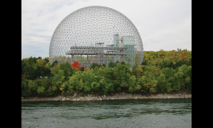 The U.S. Pavilion was Buckminster Fuller's largest geodesic dome to date. It's now the home of the Biosphère, Environment Museum. (Photo: ©Tourisme Montreal)