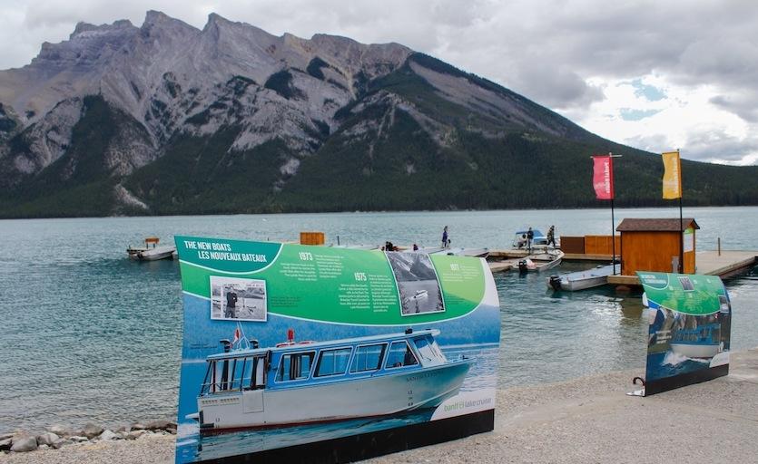 Interpretive Panels at Lake Minnewanka Boat Launch