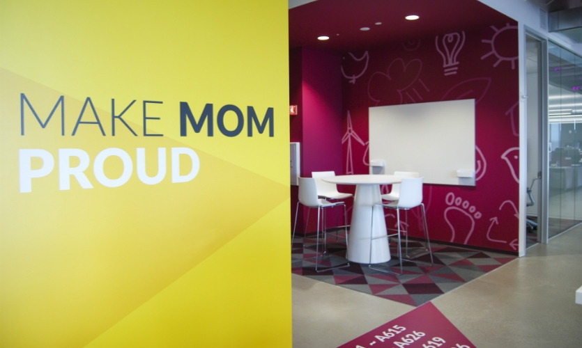 """""""Make Mom Proud"""" is a company value for Box, the cloud-based content management and collaboration platform."""