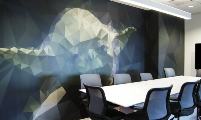The 170,000-sq.-ft. office includes 80+ conference rooms. Helping employees and visitors find them was key to the wayfinding program.