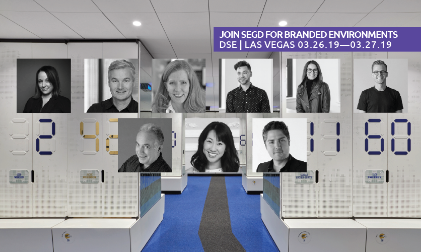 2019 Branded Environments Speakers are as follows: (Left to Right, Top to Bottom) Angela Hill, Eric LeVine, Katie Sprague, Nathan Hill, Jill Spaeth, Joe Lawton, Eli Kuslansky, Hyunmi Jenny Lee, Braulio Baptista