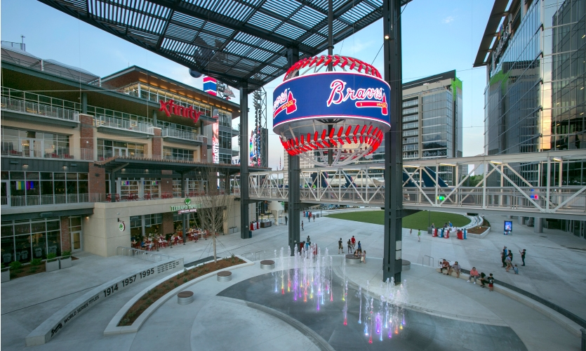 Project: Suntrust Park | Frame fabricated by Dimensional Innovations, display designed and fabricated by NanoLumens