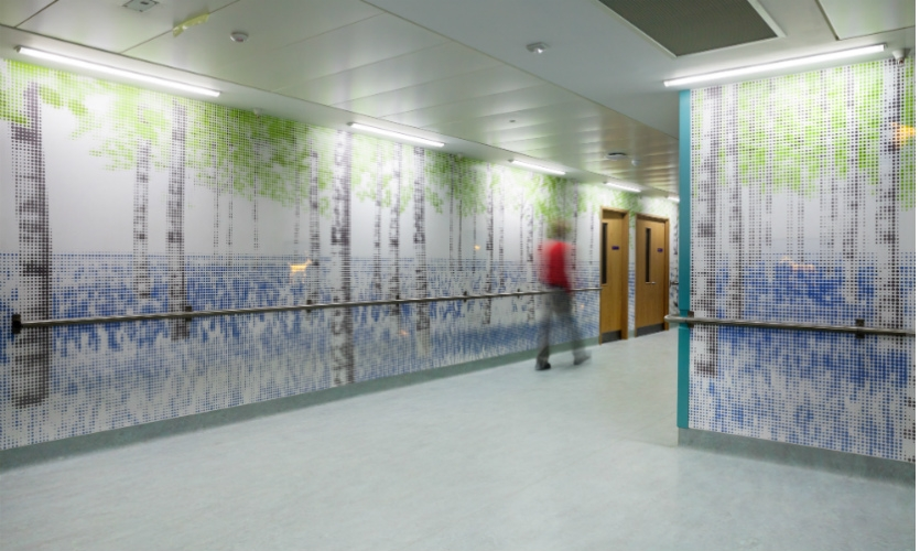 At Great Ormond Street Hospital for Children, the studio designed a distraction artwork for children on their way to surgery.