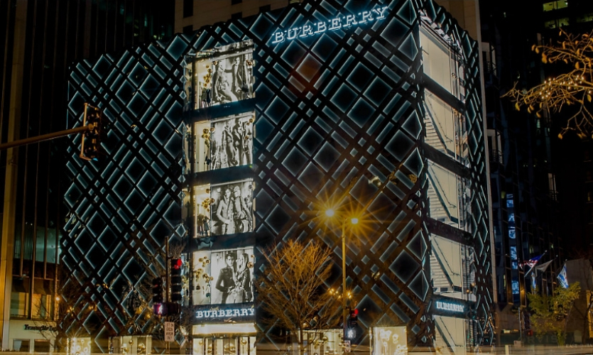 The Magnificent Mile: Always a shopper's mecca and retail design laboratory, it's different for every visit. Burberry brought its signature check to architectural scale and inside, digital displays make it a favorite.