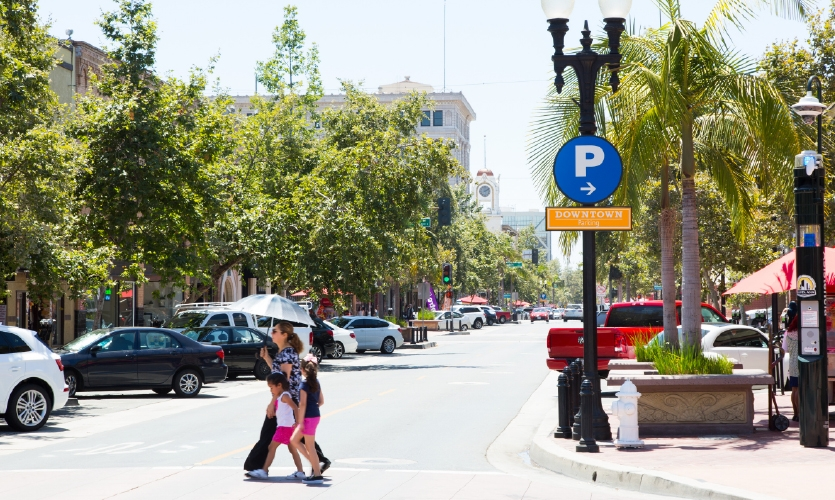 The city had six free and accessible parking structures that weren't being used to their potential.