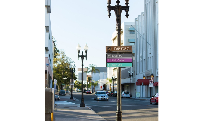 The city wanted to unite the disparate styles with an overall design but retain the charm of each neighborhood.