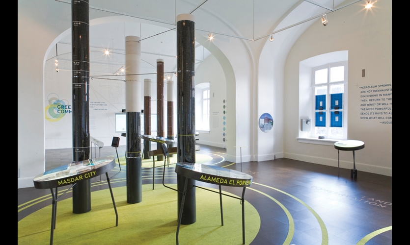 Green Community was the third in a series of sustainability-focused exhibitions at the National Building Museum.